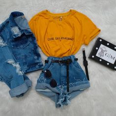 Cute Casual Outfits, Cute Summer Outfits, Retro Outfits, Stylish Outfits, Clueless Outfits, Teen Fashion Outfits, Outfits For Teens, Tumblr Outfits, Mode Outfits