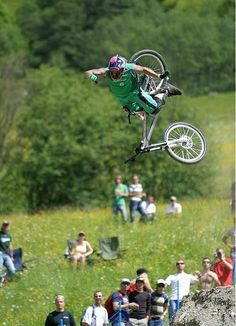 best downhillmountain bike, mtb, picture of the day, man loosing bike while jumping with bike