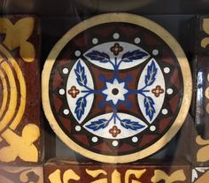 A favourite tile, on display in the new gallery at Jackfield Tile Museum, Ironbridge Gorge Museum Trust. 2016.