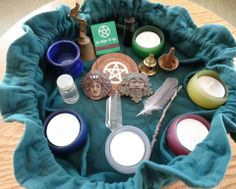 One of Selena Fox's travel altars, Circle  Sanctuary.