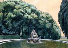 Châtaignes au printemps. Versailles 1906 Aquarelle sur papier, blanc. 48 x 66 cm Kiev, le musée national de l'art russe, Ukraine Inv. N: Pr-1535