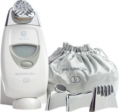 Nu Skin ageLOC Galvanic Spa - a powerful product! Maintains the youthfulness of my skin. I just love using this especially before special events. It just brings out the glow of your skin! Galvanic Facial, Galvanic Body Spa, Ageloc Galvanic Spa, Nu Skin Ageloc, Anti Aging Treatments, Spa Treatments, Facial Benefits, Serum, Beauty Salon Equipment