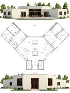 Modern Minimalist House Plan #casasmodernasminimalistas