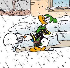 Donald Duck, winter