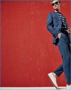 fed84e43c43d2 Clément Chabernaud dons a slim Ludlow suit with sneakers