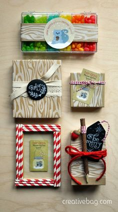 holiday gift wrapping with Creative Bag