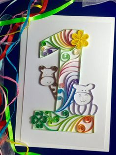 Quilling designs for kids Quilling Birthday Cards, Quilling Cards, Birthday Cards For Boys, Handmade Birthday Cards, Boy Birthday, Birthday Nails, Birthday Photos, Birthday Gifts, Quilling Letters