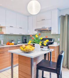 Futées, les petites cuisines! | Les idées de ma maison Cuisine pimpante photos RODOLF NOËL #deco #cuisine