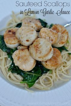 Sauteed Scallops Recipe - Quickly prepare this delicious, healthy meal in less than 20 minutes. It's flavored with just the right amount of garlic and lemon juice.