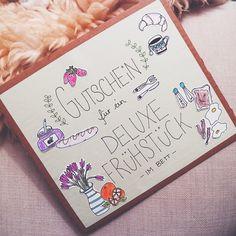 """#DIY #Gutschein #crafting #doodle #breakfast / """"Ich bin ein Mensch, der für sein Leben gerne Dinge verschenkt. Egal ob es materielle (...)"""" www.lenafranzisca.net"""