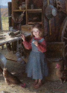 """The Chef's Daughter - Chuck Wagon 1892"" by Morgan Weistling is a great example of why this artist is so popular. His ability to capture the true spirit of a figure is amazing. He paints only the necessary details and allows the viewer the ability to complete the story."