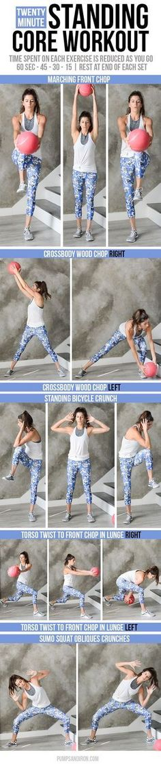 Standing Core Workout - this 20-minute workout will challenge your core stability with standing ab exercises (follow-along video included!)