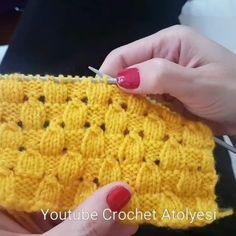 Badem Örgü....... Yelek, kazak, bere, battaniye örülebilir! .. Youtube Crochet Atölyesi Kanalında... Anlatım Videosuna hikaye ekranımı…
