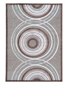 Art silk and chenille rug with a circle motif. Made in Turkey. Product: RugConstruction Material: Art silk and . Circle Rug, Contemporary Rugs, Throw Rugs, Scandinavian Design, Brown And Grey, Area Rugs, Pink, Home Decor, Material Art
