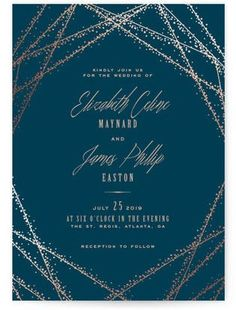 New Customer Offer: Enjoy off starry night wedding invitations. Unique starry night wedding invitations designs by independent artists. Foil Stamped Wedding Invitations, Winter Wedding Invitations, Wedding Shower Invitations, Wedding Invitation Wording, Invites, Invitation Ideas, Wedding Stationery, Gala Invitation, Event Invitations