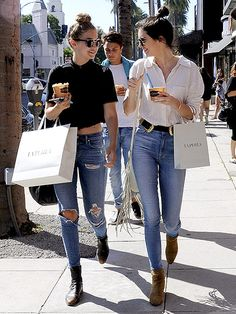 Star Tracks: Monday, August 3, 2015   TWINSIES    Gigi Hadid (left) and Kendall Jenner went shopping in Beverly Hills, California, on Friday.