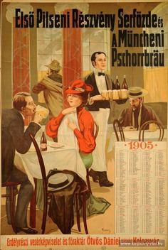 Első Pilseni Részvény Serfőzde és Müncheni Pschorrbrau 1905 Beer Poster, Picture Cards, Vintage Advertisements, Old Photos, Vintage Posters, Advertising, Beverages, Movie Posters, Pictures