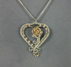 Handmade Sterling Silver and Gold Wire Wrapped by MystikCritterZ