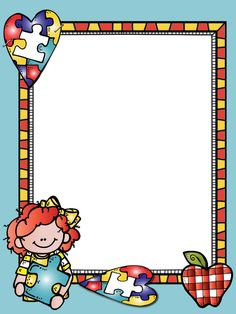 Borders For Paper, Borders And Frames, Clown Crafts, School Border, Boarder Designs, School Frame, Bible Crafts For Kids, School Scrapbook, Theme Background