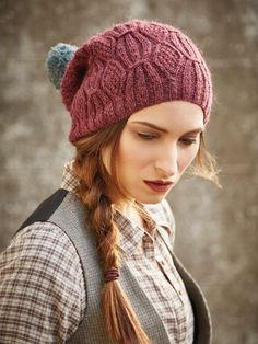 Barley Hat - Rowan Magazine 60 - Gorgeous rib & cable beanie hat with bobble designed by Lisa Richardson using Rowan Felted Tweed. See also matching Barley sweater. Easy Knitting, Knitting For Beginners, Knitting Patterns, Crochet Patterns, Knitting Ideas, Lisa Richardson, Rowan Felted Tweed, Pattern Design, Free Pattern