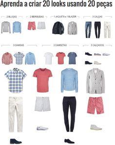 Que tal aprender a variar a maneira como você usa as suas roupas? Crie vários looks diferentes com as mesmas peças.