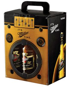 Miller Boom Box, six-pack packaging designed by Manajans/JWT Istanbul. Miller Beer is closely linked with music in Turkey, where it organizes Miller Music Factory and Miller Freshtival, a music festival.