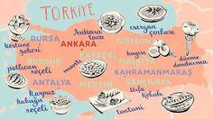 """Turkey Food Map by Theresa Grieben for babbel: """"Du hast die Quitte gegessen!"""" – Über Delikatessen in der türkischen Sprache und Kultur - Babbel.com Türkiye"""