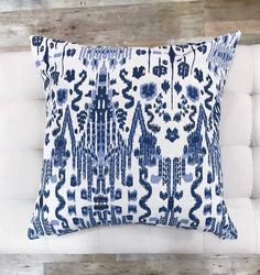 Pillow Cover Blue Ikat Pillow Cover Many Sizes Euro Sham Navy Pillows, Linen Pillows, Down Pillows, Pillow Covers Online, Blue Pillow Covers, Feather Pillows, Boho Bedding, Euro Shams, Vintage Pillows