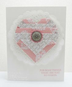 NEW! Folded Paper Heart Technique video tutorial by Song of My Heart