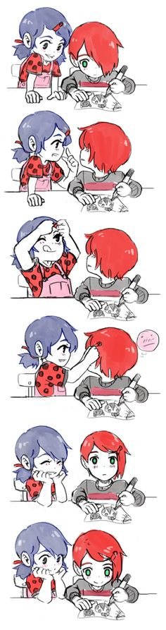 Comics Ladybug, Meraculous Ladybug, Miraculous Ladybug Fanfiction, Miraculous Ladybug Fan Art, Manga Kawaii, Manga Anime, Lady Bug, Nathanael Miraculous, Filles Equestria