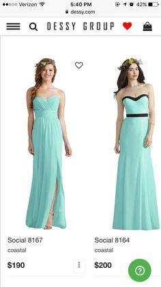 Dress on the left