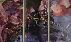 Hiedra invierno (tríptico), acrilico sobre lienzo, by MODE