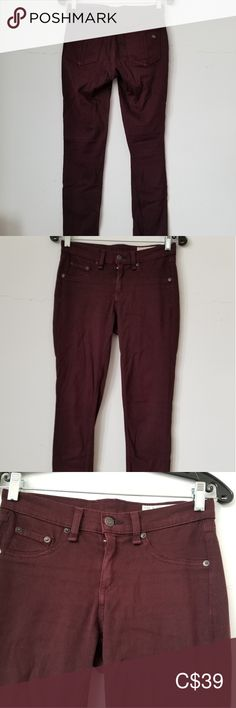 Rag & Bone Legging, 26 Very good clean condition. Length: inseam: waist across: Color is mulberry or purple. Plus Fashion, Fashion Tips, Fashion Trends, Rag And Bone, Parachute Pants, Skinny Jeans, Purple, Color, Outfits