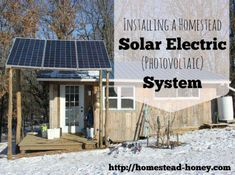 These people recently installed a solar electric system on our off grid homestead. They ordered equipment from Backwoods Solar, and did the install themselves. Solar Electric System, Solar Power System, Off Grid Homestead, Solar Projects, Best Solar Panels, Homestead Survival, Diy Solar, Alternative Energy, The Ranch