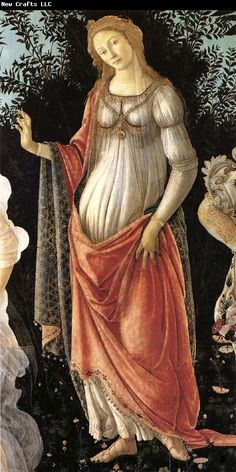 Sandro Botticelli Details of Primavera-Spring