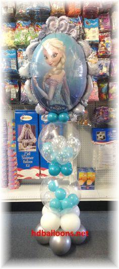 Disney Frozen balloons decoration, column