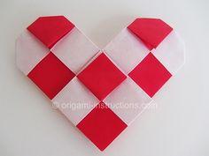 Origami Checkered Heart