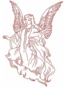 Redwork Angels Designs