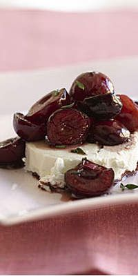 Cherry Compote with Goat Cheese  - Love cherries? You'll love them even more in these delicious recipes.