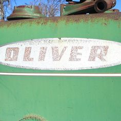 Faded Oliver tractor decal