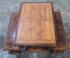 Farmhouse Amish Dining Table with Trestle Base and by maybemaple