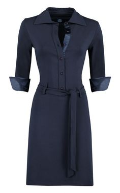 Elisa jurk van Le Pep in blauw, verkrijgbaar bij Solvejg.nl