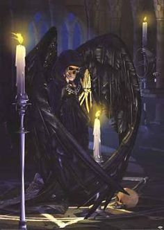 Arch Angel Azrael the Angel of Death who is most compassionate to us mere mortals.
