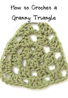 how to #crochet a granny triangle