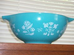 SALE RARE Pyrex EMBROIDERY 443 Mixing Bowl by thetrendykitchen, $39.95