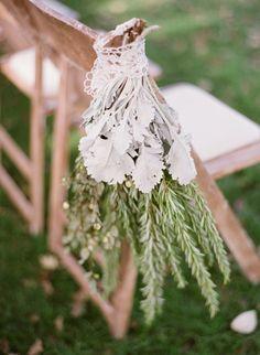 Hanging greens: http://www.stylemepretty.com/2014/07/24/sunny-al-fresco-wedding-in-ojai/ | Photography: Michael & Anna Costa - http://www.michaelandannacosta.com/