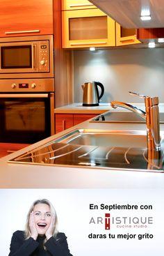 En Septiembre con Cocinas Artistique, darás tu mejor grito...! Contamos con diferentes estilos y colores, pregunte por nuestras promociones: www.cocinasartistique.com.mx