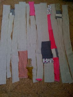 What to do with leftover sections? I would sew them together and make a new quilt!!