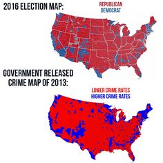 I think not. >>>>>The map is true, but not for the reason it stated, crime is higher in Democratic areas as they are focused in cities, which have a higher population compared to rural areas, thus more crime Meryl Streep, Liberal Logic, Political Memes, Conservative Politics, Truth Hurts, It Goes On, Thing 1, We The People, Fun Facts