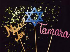 Bar Mitzvah decorations, Bar Mitzvah Decor, Bar Mitzvah centerpieces, Personalized names, Mazel Tov, Bat Mitzvah Decorations, Bat Mitzvah by ThePaperWish on Etsy https://www.etsy.com/listing/448643316/bar-mitzvah-decorations-bar-mitzvah